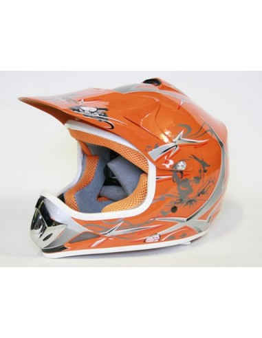 Casco Cross Xtreme naranja
