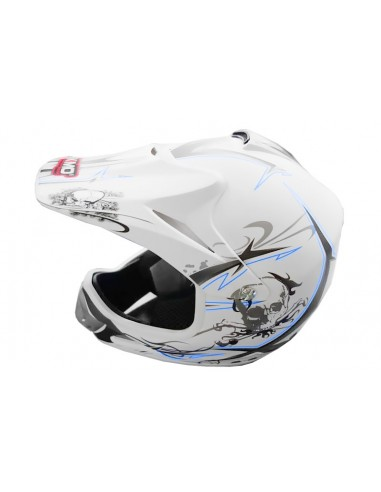 Casco Cross Xtreme blanco Mate