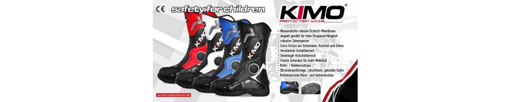 botas de cross infantil azul